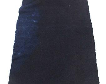 Japanese Indigo Cotton. Artisan Aizome Boro Textile. Blue Vintage Folk Fabric (Ref: 1728)