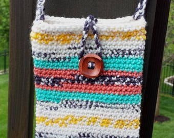 Painted Canyon, Cell Phone Purse, Cross Body, Crochet, Shoulder Bag, Fits iPhone 5, 6, 6 Plus, 7 and Samsung Galaxy s4, s5, s6, s7