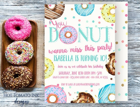 Donut Invitation Donut Wanna Miss This Party Birthday
