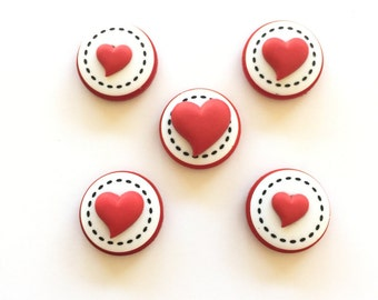 Only 1! Heart Magnets, Love, Hearts, Pushpins, OOAK