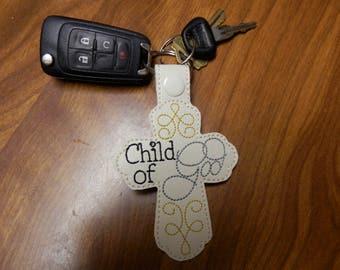 key fob cross key chain,key chain,Jesus key chain,luggage tag,zipper pull,key chain and lanyards,accessories,snap tab