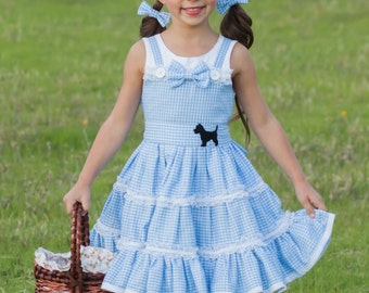 Dorothy Costume - Dorothy Birthday Dress - Dorothy Dress - Wizard of Oz Costume - Gingham Dress - Girls Birthday Dress - Oz Birthday Party