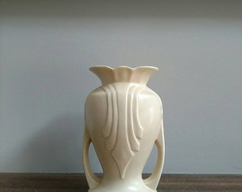 Vintage Cream Art Deco Vase
