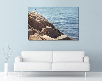 Ocean Print, East Coast, Coastal Decor, Coastal Living, Cliff, Beach, Rocky Coast, Seascape, Shore Decor New England, sea, beach cottage art