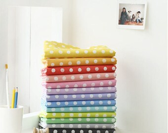 Polkadots Fabric, Cotton Blend Fabric, 13 Colors - By the Yard 97125