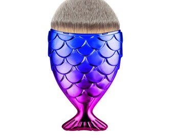 Mermaid Makeup Brushes | Mermaid Accessories | Mermaid Gifts | Rainbow Makeup Brush | Fishtail Makeup Brush | Mermaid Scale Makeup Brush