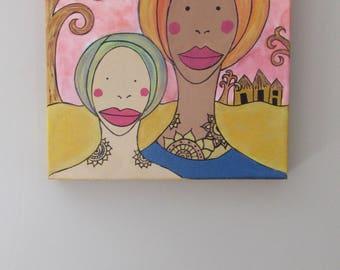 naive painting, naive painting, acrylic art, decoration, Africa, travel