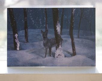 The Winter Doe 4x6 Card