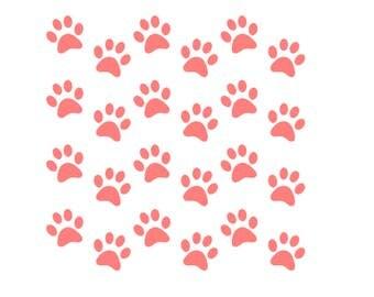 Paw Print Stencil, Paw Print Cookie Stencil, Paw Print Pattern Stencil, 5.5 x 5.5, Dog Paws Stencil, Dog Paw Print Stencil, Paw Print Cookie