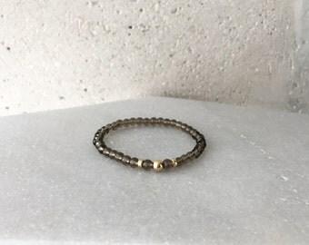 Small Smoky Quartz Stretch Bracelet