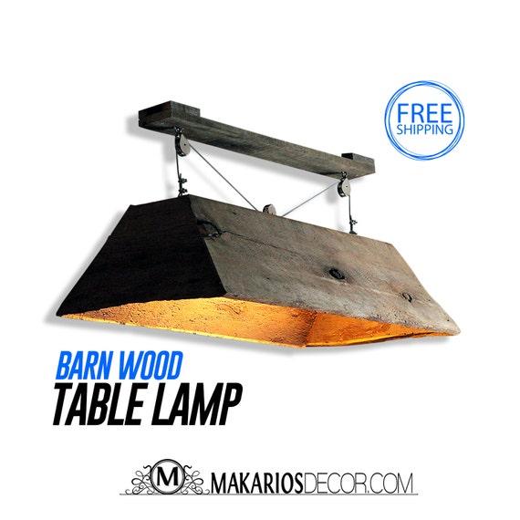 Barn Wood Light.Hanging Light.Table Light.Kitchen By