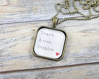 Teacher Gift - Teacher Appreciation Gift - Teacher Jewelry - Teacher Necklace - Gifts for Teachers - Mother's Day Gift - Gifts for Her