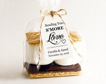 Sending You S'MORE Love Tag Template, DIY Editable Download, Printable Custom Favor Tags, Gift Tags, Wedding Tags, Wedding Printables