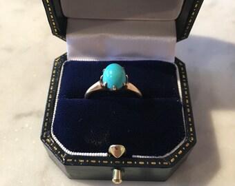 10K Gold Turquoise Ring Circa 1900