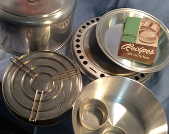 Ovenette West Bend Aluminum Stove Top Oven Camping Vintage