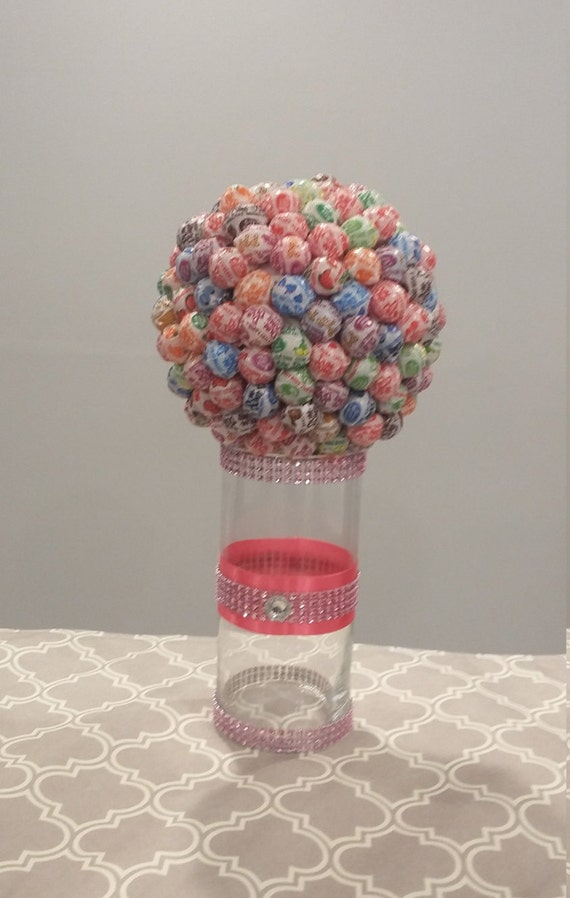 Candy centerpiece with vase multi colored communion