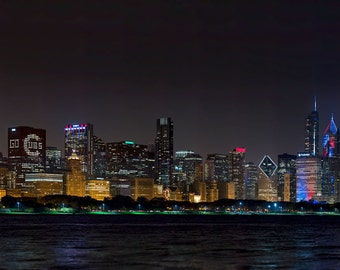 One of a Kind- Chicago Cubs World Champs Skyline Photo