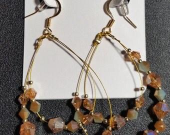 Golden Dream Crystal Earrings