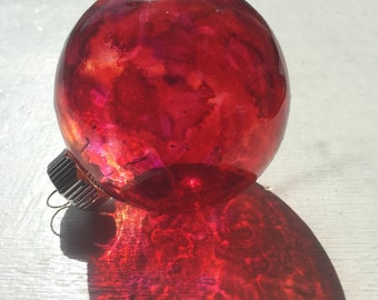Garnet Translucent Alcohol Ink Ornament (Suncatcher)