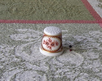 Vintage Thimble Classic Rose Germany Thimble Collector Sewing Room 1980s