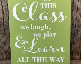 In this class sign, teacher sign, Dr SEuSS sign quote, teacher gift, end of the year gift, gifts for teacher, class decorations,