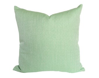 Lulu DK Claude Kelly Green designer pillow cover - Made to Order - Choose Your Size
