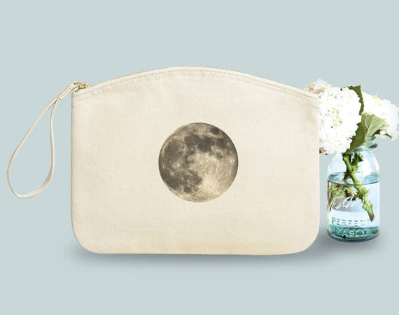 Full Moon, Toilet case, hand bag, purse, cotton case, beauty case, gift besties, novelty gift, gift colleague, gift bride, gift sister.