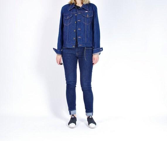 SALE - 70s Sedgefield Do Nothing Indigo Denim Workwear Trucker Jacket Made in USA / Size M