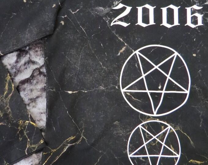 SALEM black marble & pentagram long sleeve T-shirt