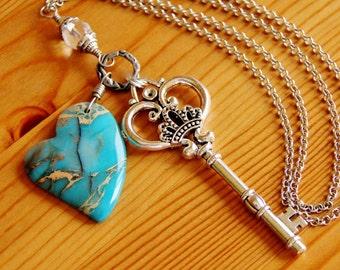 Sediment jasper pendant necklace, jasper jewelry, statement necklace, big chunky necklace, big bold necklace, huge pendant, chunky pendant