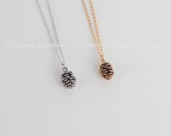 Pine Cone necklace, pinecone necklace