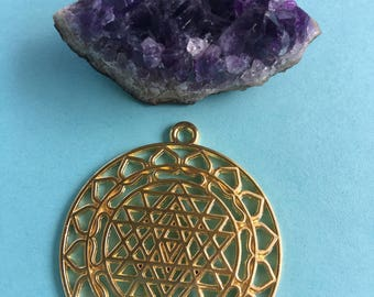 SET of TWO (02)  Sri Yantra Pendant-Charms