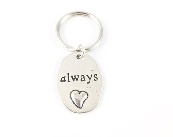 Memorial Keychain, Heart Keychain, Memorial Key Chain, Memorial Gift Bereavement Gift Sympathy Gift Father In Remembrance Always In My Heart