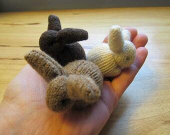 Wool bunny rabbits (set of 3)