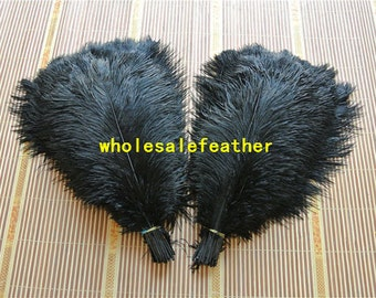100 pcs 18-20inch black ostrich feather plumes for wedding centerpieces wedding decor party event supply