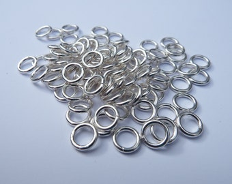 Silver Plated Jump Rings Open, 6mm, Package of 100, 18 Gauge