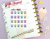 20 Washing Machine Mini Stickers / Erin Condren Planner Stickers / Planner Stickers