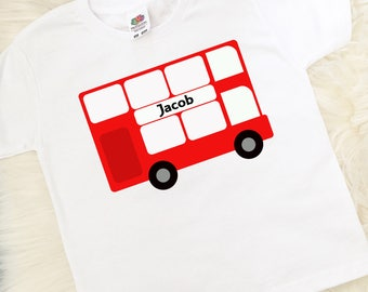 Personalised big sister t shirt big sister gift princess personalised london bus t shirt bus top personalised gift london gift negle Choice Image