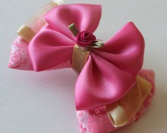 Sleeping Beauty Aurora Inspired Bow