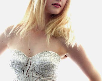 White Structured Cup Bustier / Corset Size Medium