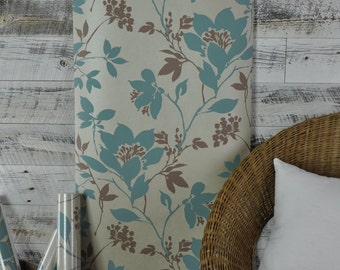 Carina Aqua Silhouette Floral Kenneth James Wallpaper 601-58434