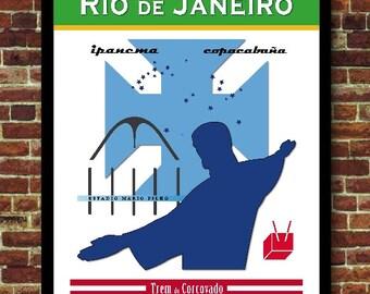 Rio de Janeiro Brazil Brésil Décoration Poster Voyage