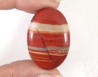 Red  River Jasper  Cabochon 46.5Ct (35x24x5 mm) Oval Shape NS-10837