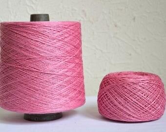 100% natural linen yarns, 100g / 3,5 oz balls