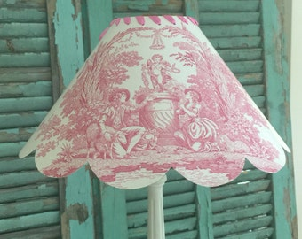 PINK TOILE De JOUY Shabby Chic Lampshade