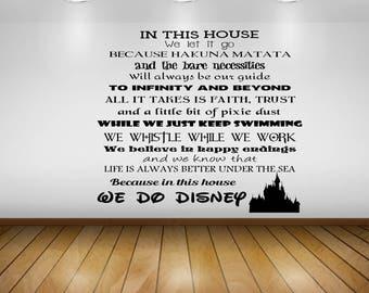 We Do Disney Car Decal, Wall Decal, Yeti Decal, Laptop
