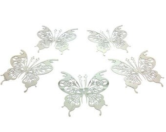 10 Butterfly 46mm silver Platinum prints
