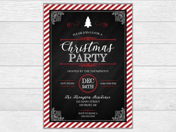 Christmas party, holiday party, christmas invitation, christmas invite, holiday party invitation, holiday party invite, printable invitation