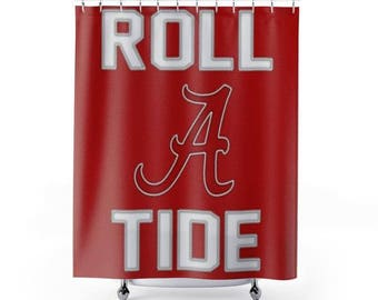 University of Alabama Roll Tide Jersey Shower Curtain