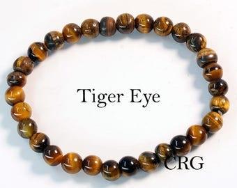 Round 6-7mm TIGEREYE Beads Stretch Bracelet (BR13DG)